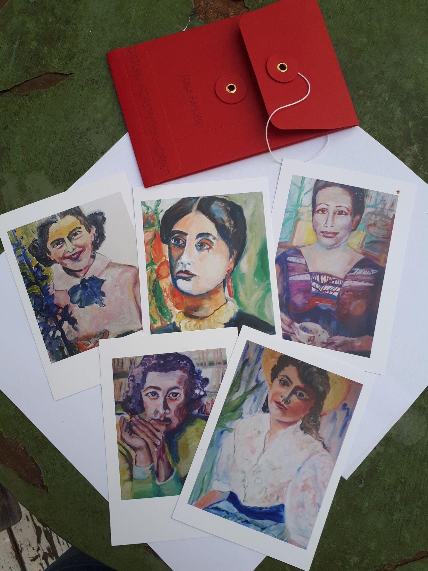 Tolle Frauen! Porträts von Dietlind Horstmann-Köpper als Postkarten